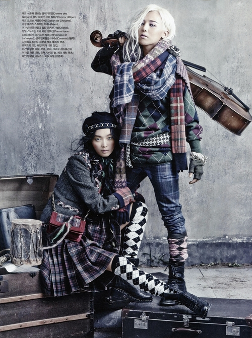 Kim Sunghee and GDragon by Kim Bosung for Vogue Korea August 2013
