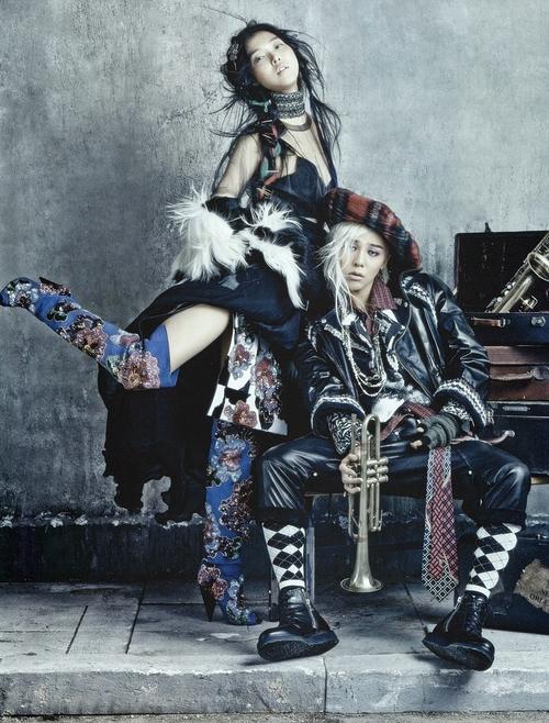 Kim Sunghee and GDragon by Kim Bosung for Vogue Korea August 20134