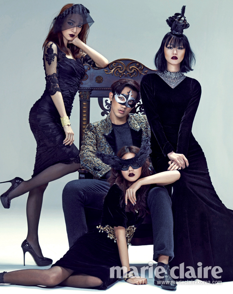 Lee Hyejung, Ahn Jaehyeon, Choi Junyoung, Jin Jungsun, Jang KiYong, Kim Hansu, Lee Hojeong by Zoo Young Gyun for Marie Claire Dec 20122