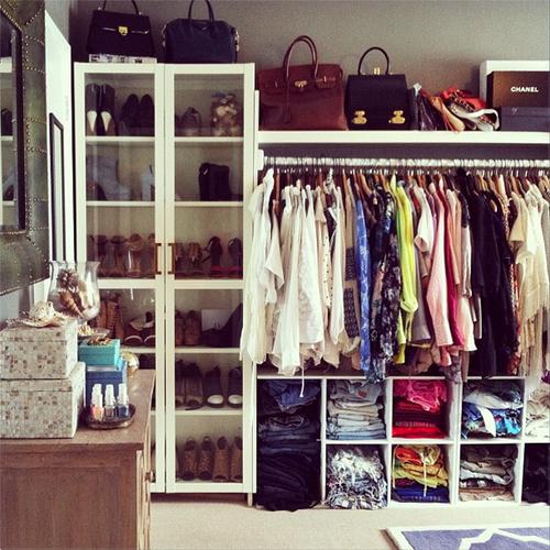 Model Miranda Kerrs Closet