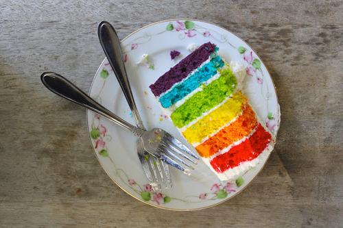 cake rainb