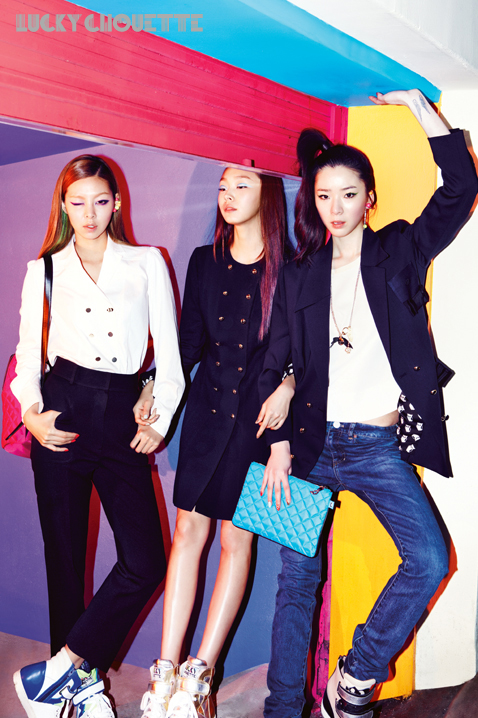 Song Haena, Go Sohyeon and Irene Kim for Lucky Chouette Spring 2013 campaign3