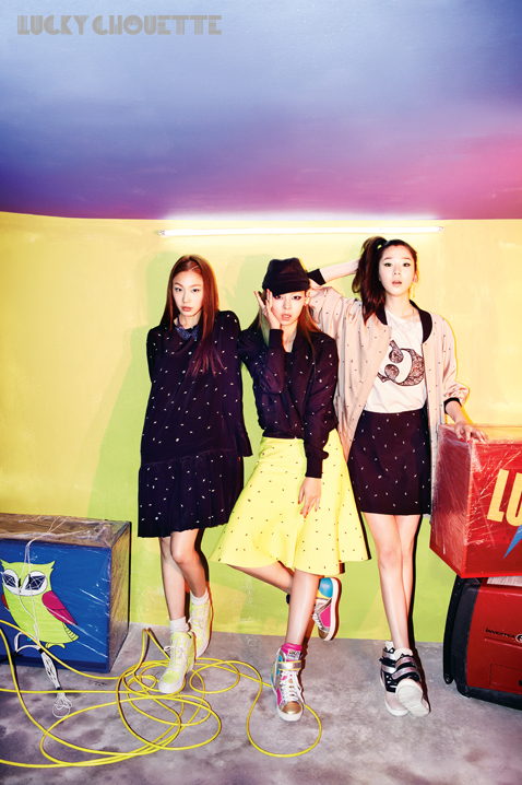 Song Haena, Go Sohyeon and Irene Kim for Lucky Chouette Spring 2013 campaign4