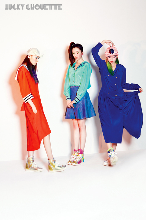 Song Haena, Go Sohyeon and Irene Kim for Lucky Chouette Spring 2013 campaign6