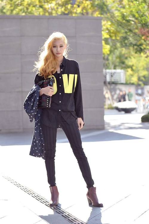 Streetstyle Jung Hoyeon shot by Choi Seungjum at Seoul Fashion Week SS 2014