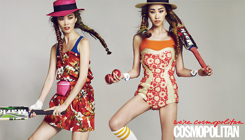 Kim Wonkyung and Song Kyungah for Cosmopolitan Korea Jun 2012 2
